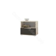 Спальня Венеция - Тумба прикроватная. Дуб серый крафт/Серый графит