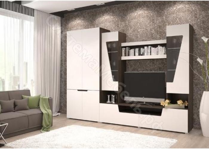 Гостиная Анталия 2 - Венге/Белый софт