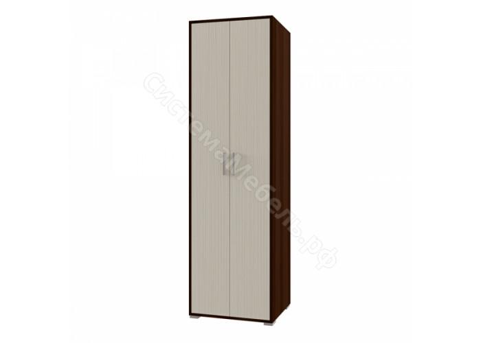 Гостиная Камелия - Шкаф платяной. Дуб венге/белый дым МДФ глянец
