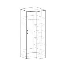 Гостиная модульная Макарена ЛДСП - Шкаф угловой. Венге/Дуб белфорд