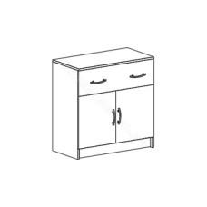 Спальня Бася - Комод с 1 ящиком и створками. Венге/Дуб белфорд