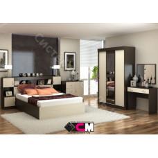 Спальня Бася - Венге/Дуб белфорд. 5 модулей
