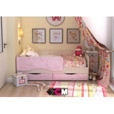 Детская кровать Алиса 1400 - Белфорт/Розовый