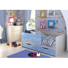 Детская кровать Алиса 1600 - Белфорт/Голубой