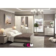 Спальня Виктория МДФ -  Белфорд/Жемчуг. 8 модулей