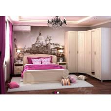 Спальня Виктория МДФ -  Белфорд/Жемчуг. 6 модулей