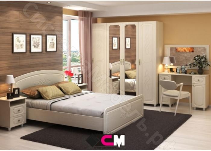 Спальня Виктория МДФ -  Белфорд/Жемчуг. 8 модулей. Набор N2