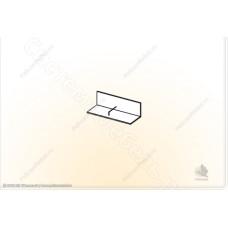 Гостиная модульная Глория - Полка навесная 1. Венге/Дуб белфорд