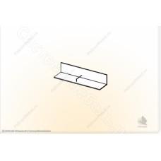 Гостиная модульная Глория - Полка навесная 2. Венге/Дуб белфорд