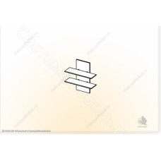 Гостиная модульная Глория - Полка навесная 3. Венге/Дуб белфорд