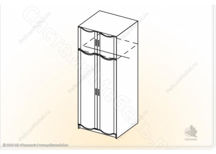 Гостиная Магнолия - Шкаф универсальный. Венге/Дуб белфорд