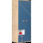 Детская Космос - Шкаф 2-х створчатый N4. Альпийское озеро/Дуб бунратти