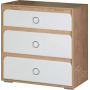 Детская Скай - Комод N10. Белый глянец/Дуб бунратти