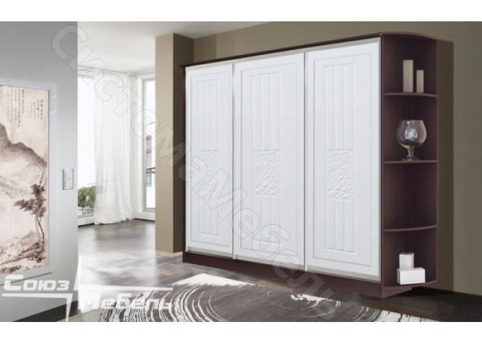 Шкаф-купе Атлантида 3-х дверный - Белый глянец