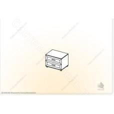 Прихожая Визит - Обувница с ящиками. Венге/Дуб белфорд