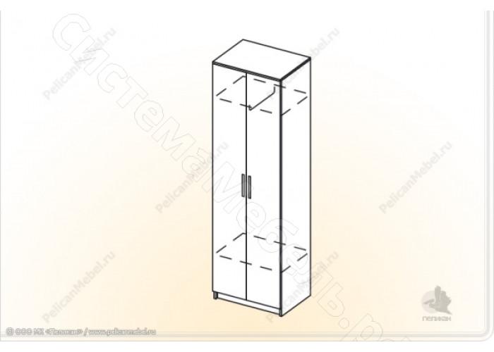 Модульная прихожая Ника - Шкаф 2-х створчатый. Венге/Дуб белфорд