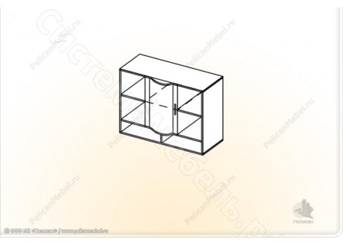 Детская модульная Мозаика - Шкаф навесной. Дуб Сонома