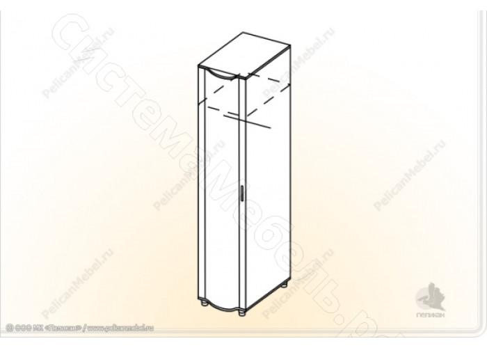 Спальня Камелия М - Пенал универсальный. Венге/Дуб белфорд