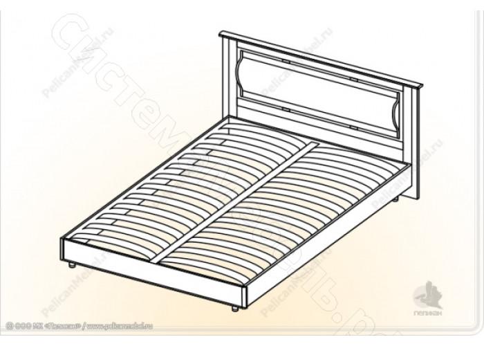 Спальня Камелия М - Кровать 1,4. Венге/Дуб белфорд