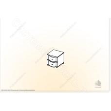 Спальня Камелия М - Тумба прикроватная малая. Венге/Дуб белфорд