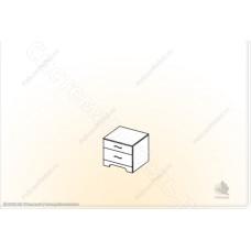 Модульная спальня Сорренто - Тумба прикроватная. Ясень шимо темный/светлый