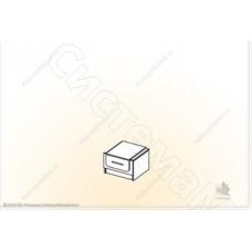 Модульная спальня Соната - Тумба прикроватная. Итальянский орех/Дуб молочный