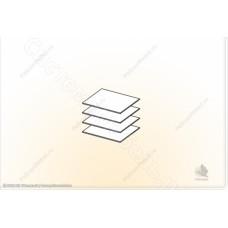 Гостиная модульная Сицилия - Полки ЛДСП в шкаф универсальный. Ясень шимо темный/Дуб белфорд