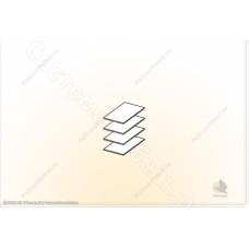 Гостиная модульная Сицилия - Полки ЛДСП в шкаф универсальный 2. Ясень шимо темный