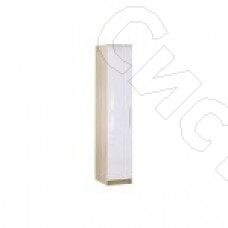 Спальня Бланка - Шкаф однодверный. Дуб сонома/Белый глянец