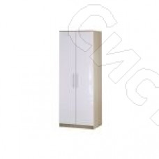 Спальня Бланка - Шкаф 2-х дверный. Дуб сонома/Белый глянец