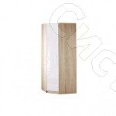 Спальня Бланка - Шкаф угловой. Дуб сонома/Белый глянец