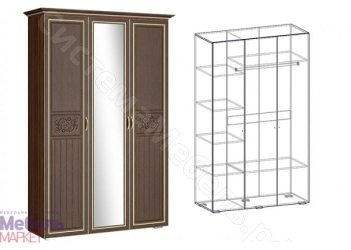 Спальня Виктория - Шкаф-купе 3-х створчатый. Орех/Орех