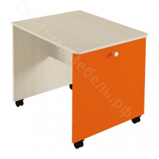 Детская Домисоль - Стол выкатной. Дуб молочный/Оранж