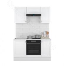 Кухня Ева 1,5 МДФ - Белый Софт