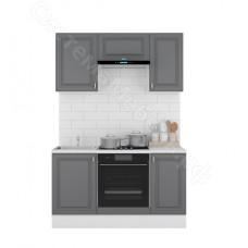 Кухня Ева 1,5 МДФ стол 3 ящика - Графит Софт