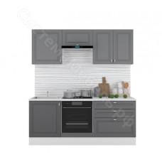 Кухня Ева 2.0 МДФ - Графит софт