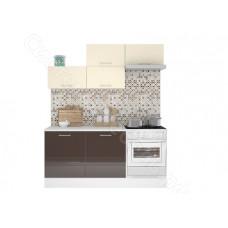 Кухня Люкс 1,8 МДФ глянец - Ваниль/Шоколад