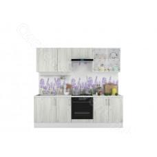 Кухня Европа 2,4 с витриной - Белый крафт