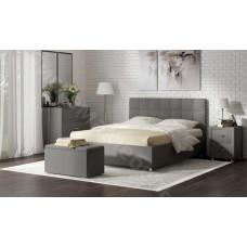 Кровать Тиволи с подъемным механизмом - Серый велюр