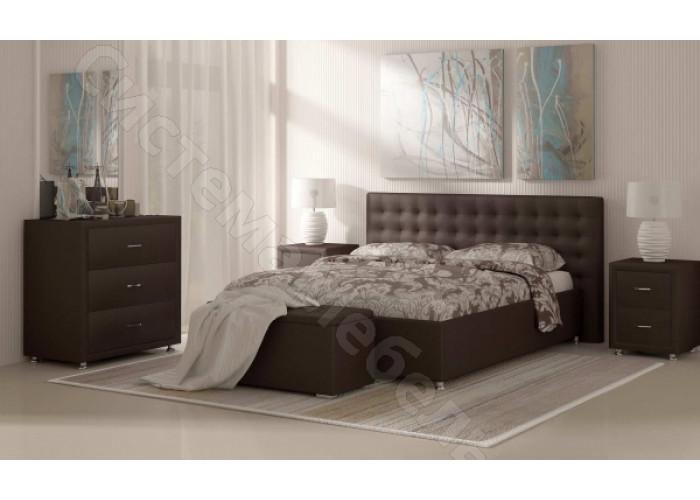 Кровать Сиена - Коричневый вельвет