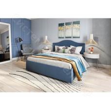 Кровать Мира с подъемным механизмом - Синий вельвет