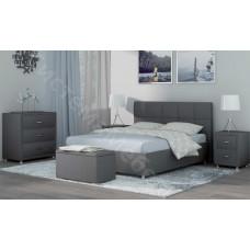 Кровать Ричмонд - Серый велюр