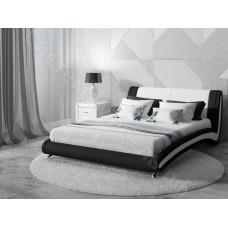 Кровать Римини - Бежевый/коричневый велюр