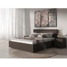 Кровать Бергамо - Коричневый велюр