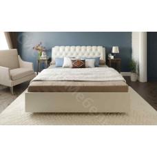 Кровать Оливия - Светло-бежевый вельвет