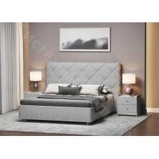 Кровать Манхэттен - Серый велюр