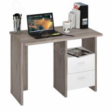 Компьютерный стол СКЛ-Прямой 100 - Нельсон/Белый жемчуг