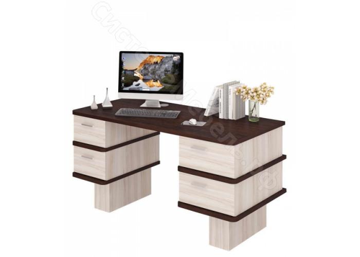 Компьютерный стол СД-25С - Карамель/Венге