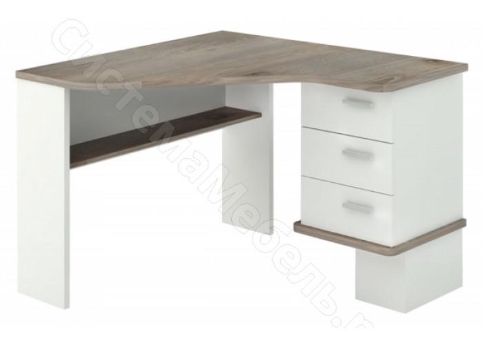Компьютерный стол СД-45C - Белый жемчуг/Нельсон