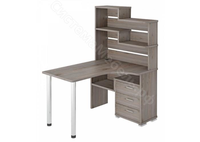 Компьютерный стол СР-132 - Нельсон/Белый жемчуг